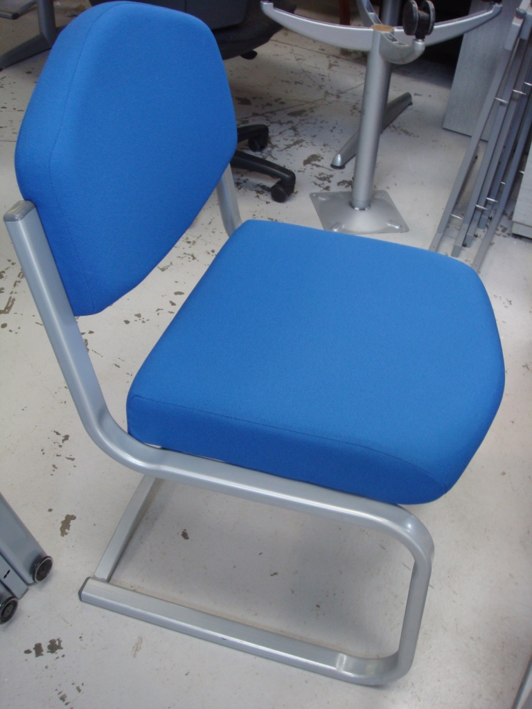 Blue meeting table chair