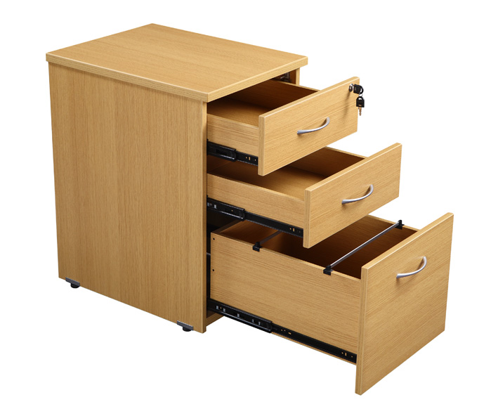Rectangular Desk And 3 Draw Pedestal Office Furniture