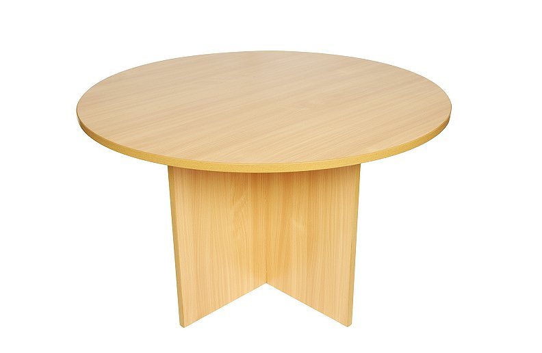 Wooden 1200mm circular meeting table