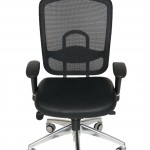executive high back mesh with leather seat