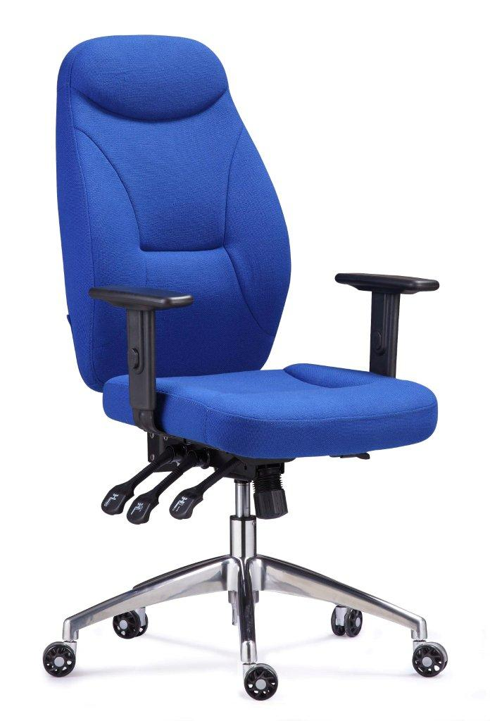 Heavy duty task chair with HA arms