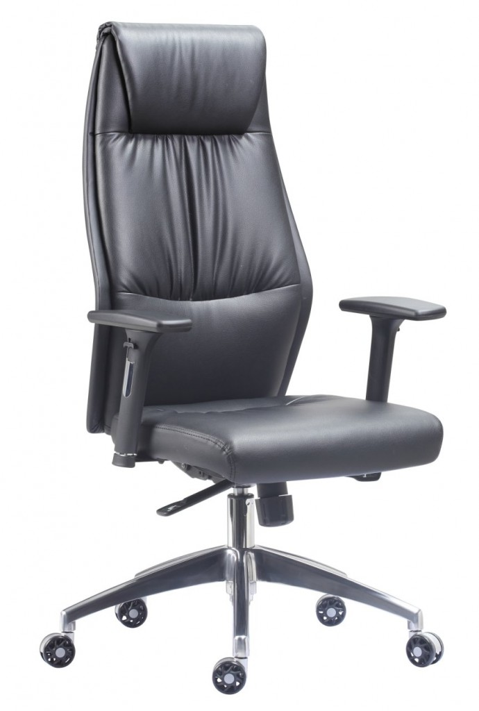 High back executive leather chair