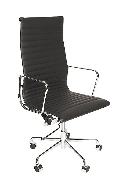 Charles Eames Style HighBack Ribbed executive chair