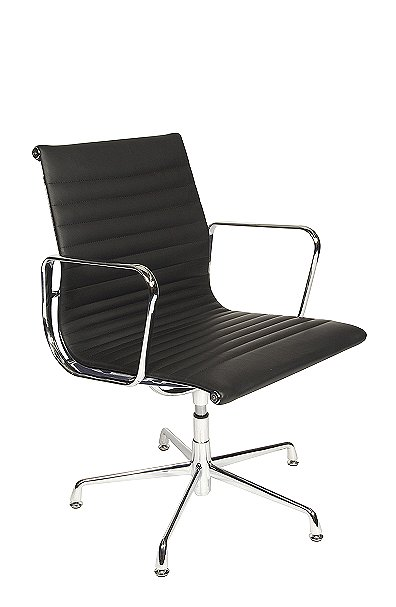Charles Eames Style Medium Back Ribbed visitor chair