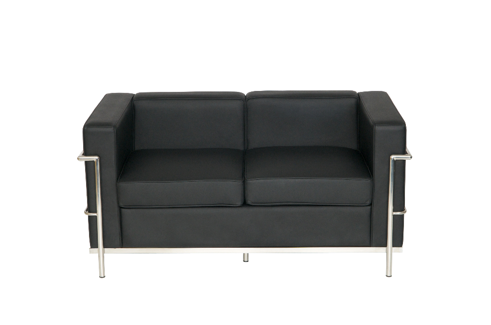 Le Corbusier Two Seater Faux Leather Sofa Office