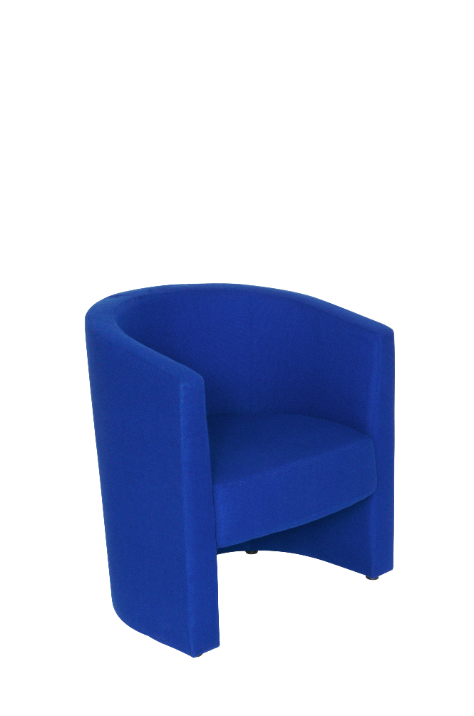 TUB Chair In Black  Or Blue Fabric