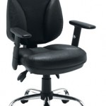 Leather faced task chair