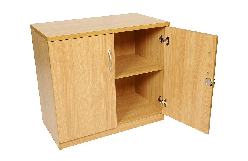Desk high double door cupboard