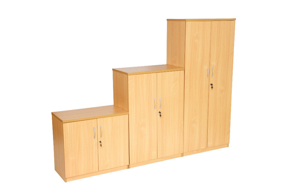Storage cupboards beech
