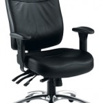 Marathon leather chair with polished aluminum base 24 Hour