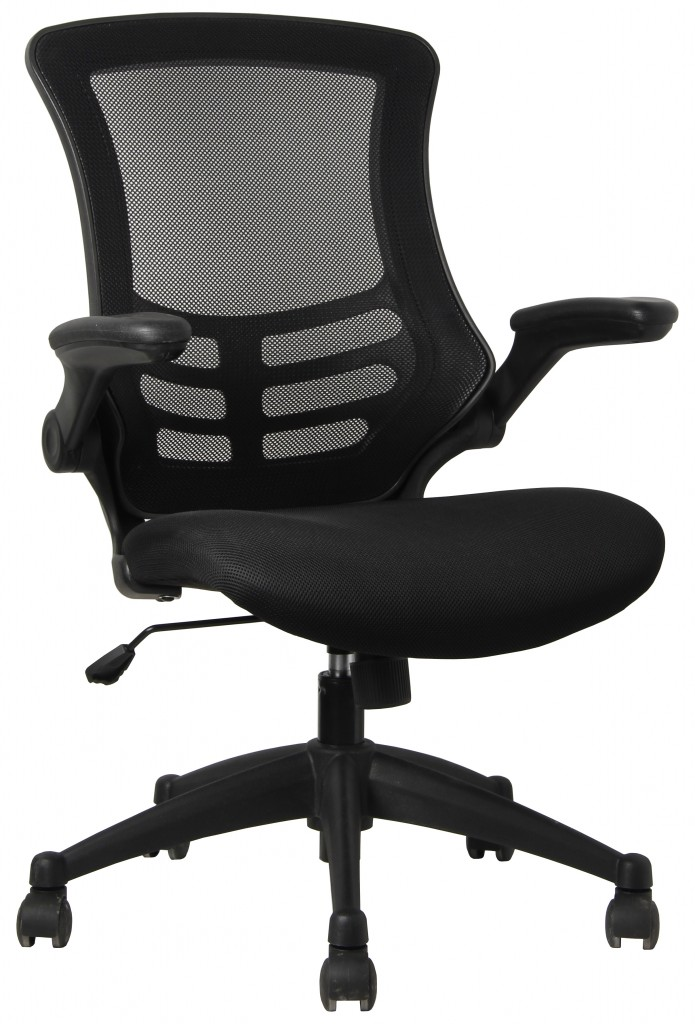 executive high back mesh chair with faux leather arms