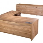 Bow fronted Exec desk with double pedestals