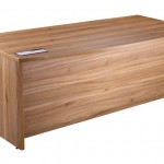 Bow fronted desk