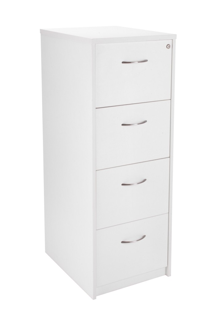White 4 draw filing cabinet
