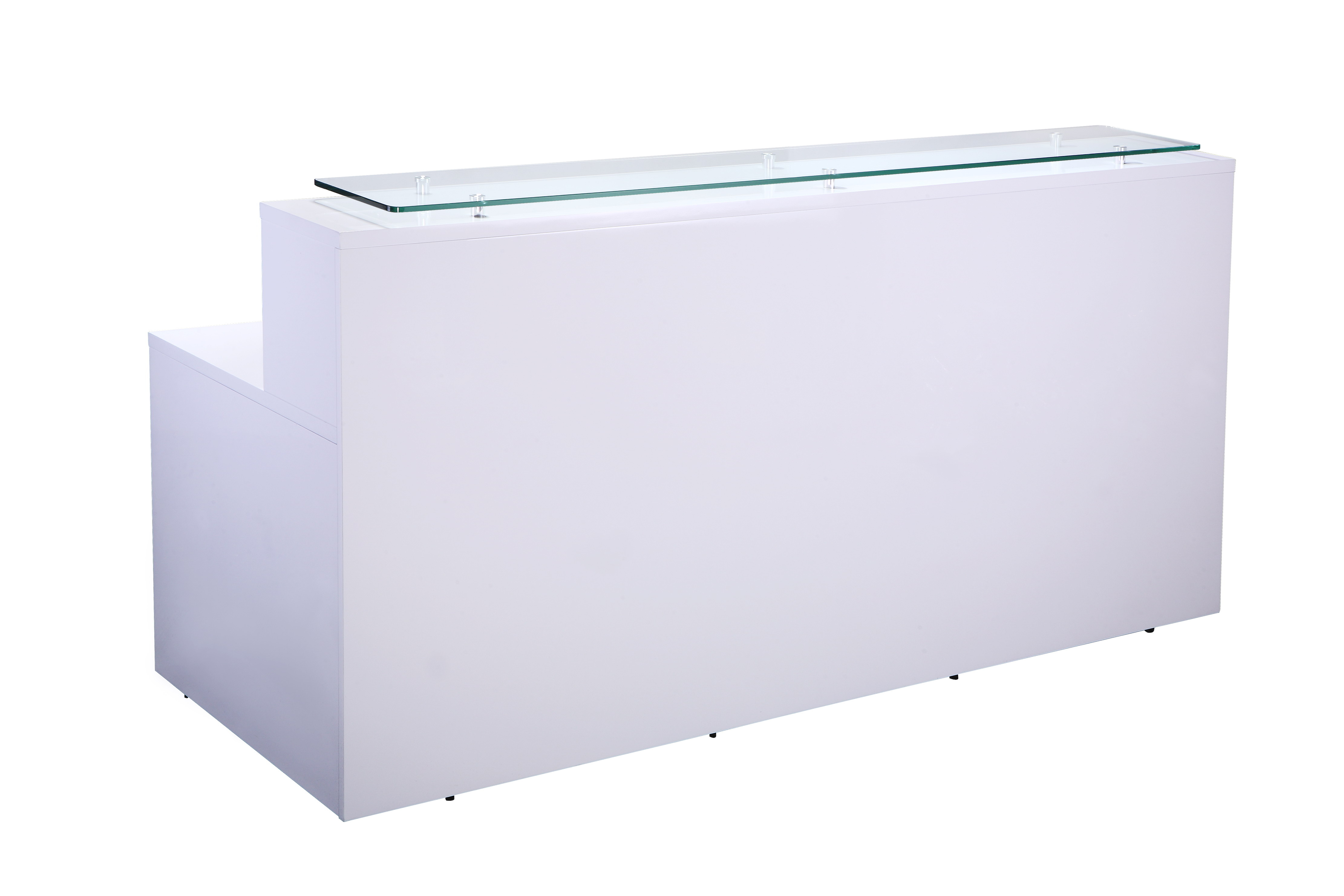 office desks econoline white high gloss reception counter