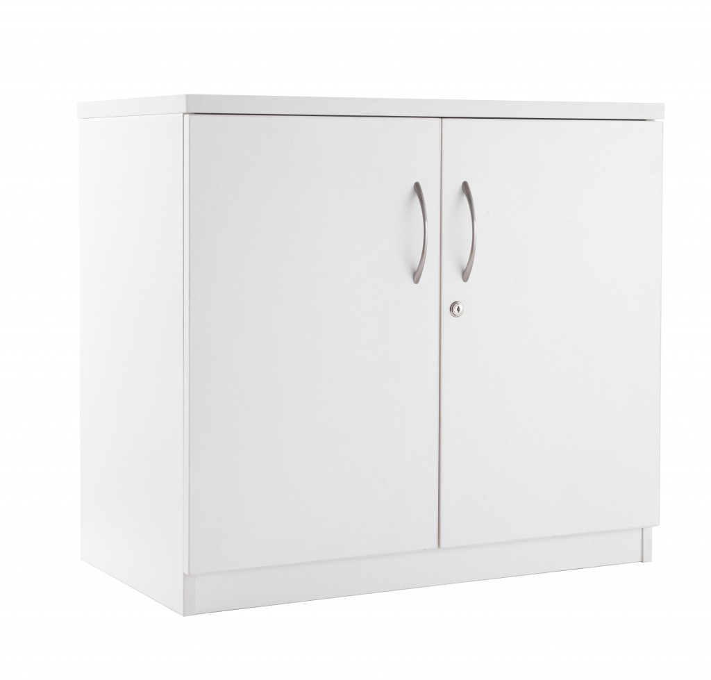 white desk high cupboard