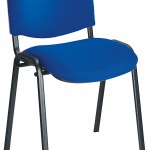 Blue / black stacking chair