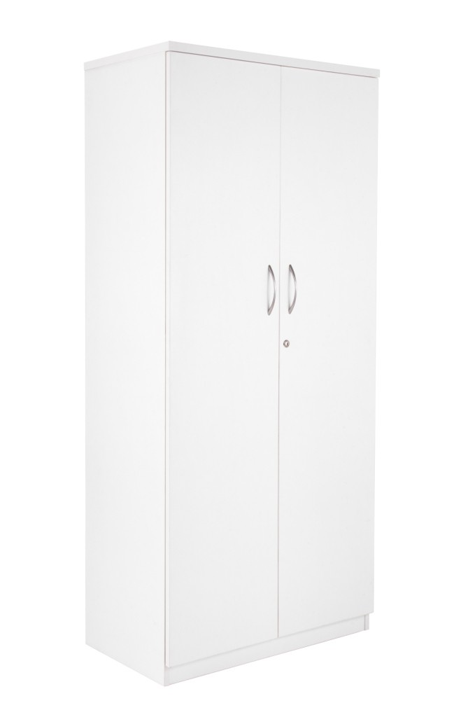 White filing cupboard with 3 shelves