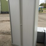 Full height Bisley Tambour Cupboard