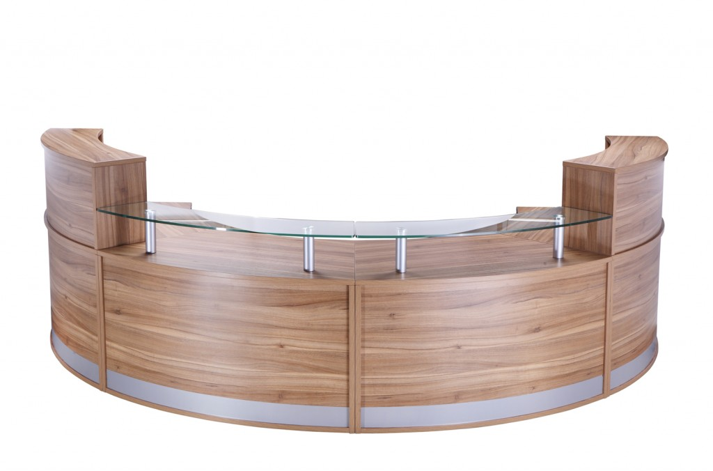Four section reception counter