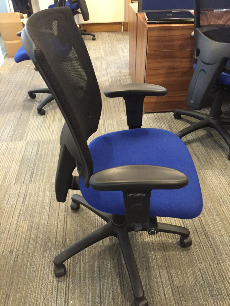 Summit blue mesh back multi adjustable chair