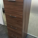 Walnut 4 draw filing cabinet