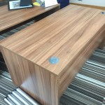 Walnut rectangular desk