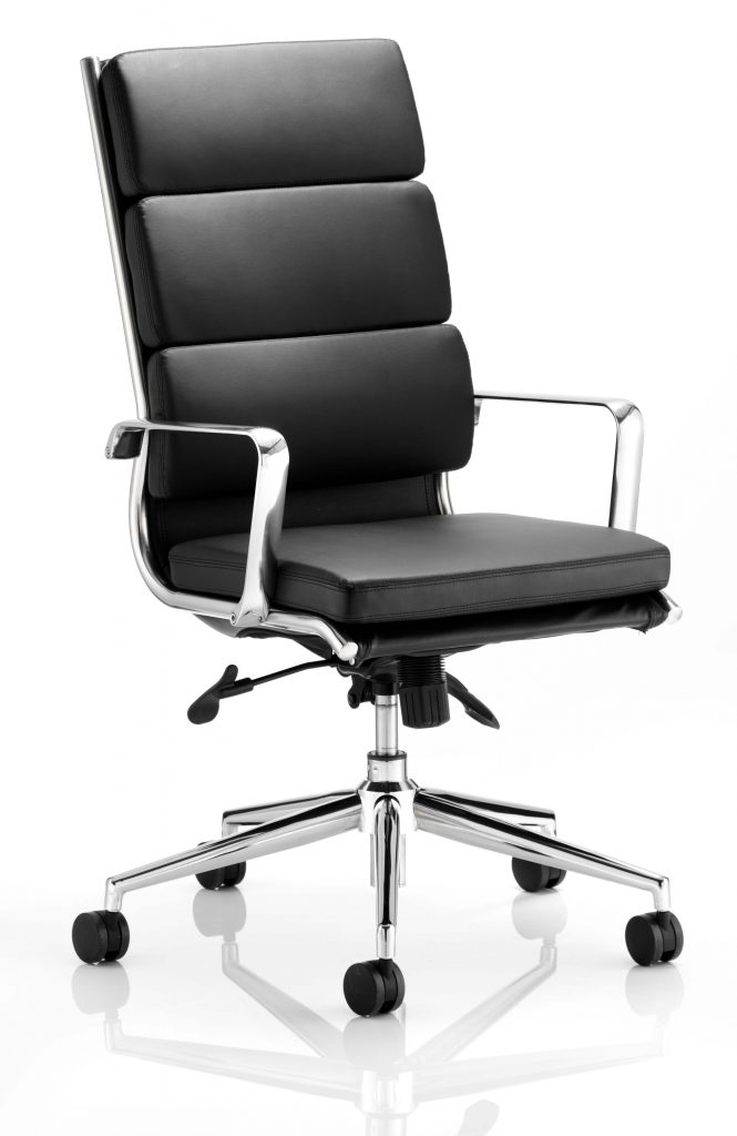 Savoy Executive Black Bonded Leather High Back With Arms
