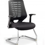 Relay Visitor Cantilever Airmesh Seat Black Back With Arms