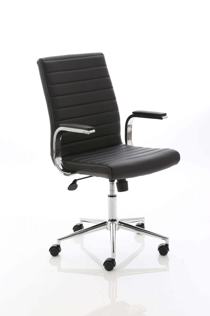 Ezra Executive Black Leather Chair