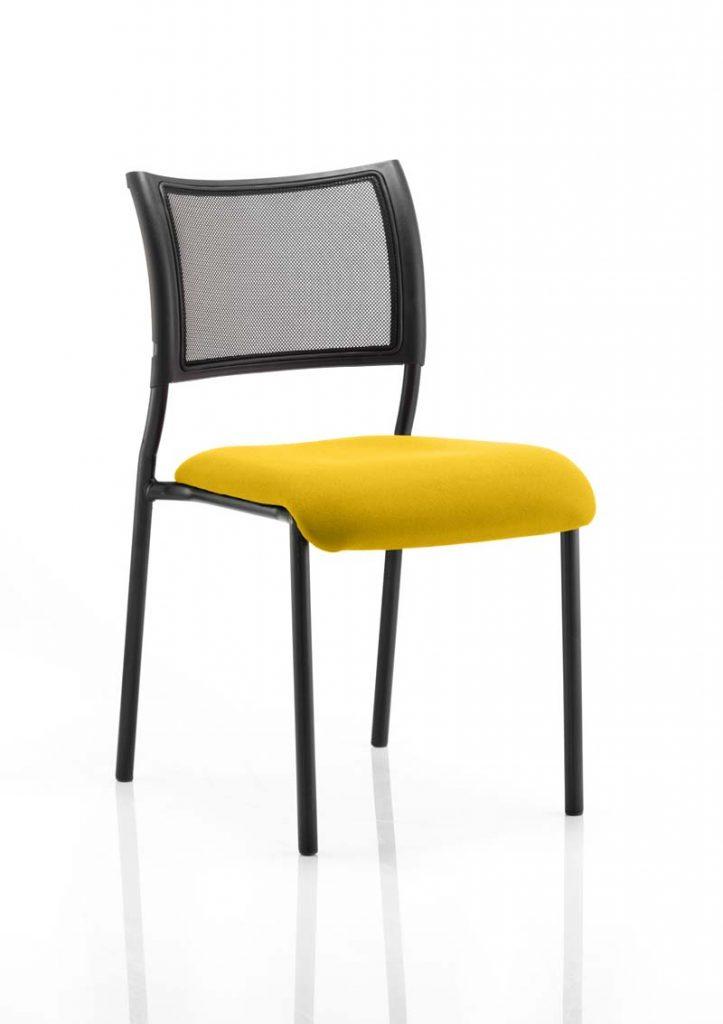 Brunswick No Arm Bespoke Colour Seat Black Frame In Senna Yellow