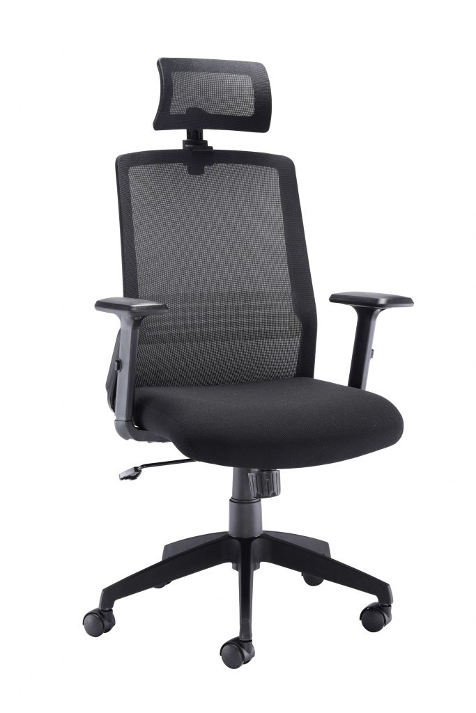 Milan high back mesh chair with headrest (special offer)